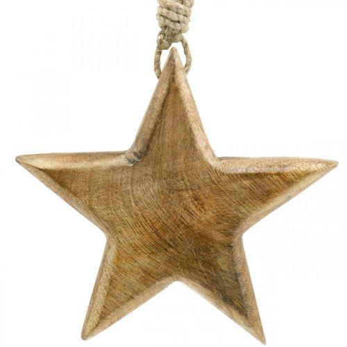 Deko-Stern, Holzanhänger, Weihnachtsdeko 14cm × 14cm
