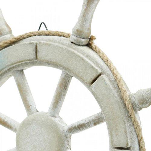 Holz-Steuerrad, nautische Deko, Maritim Ø34,5cm