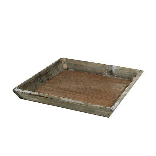 Holztablett Grau 20cm x 20cm 1St