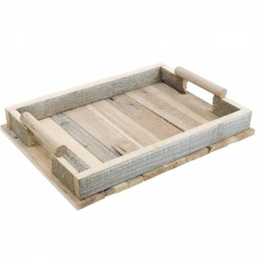 Deko-Tablett, Holzdeko, Tablett aus Holz, Tischdeko 37,5cm
