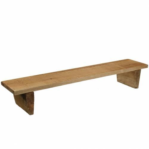 Holztablett mit Füßen Natur 58cm H10cm