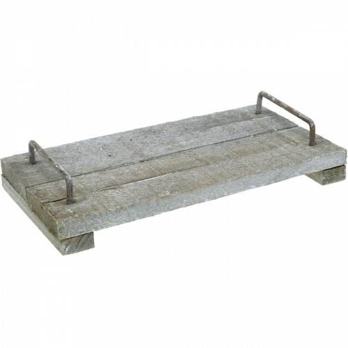 Holztablett, Shabby Chic, Dekotablett mit Füßen, Tischdeko 30cm
