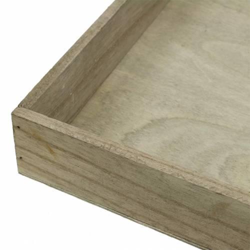 Holztablett Natur 2er-Set Quadratisch 40x40/30x30cm