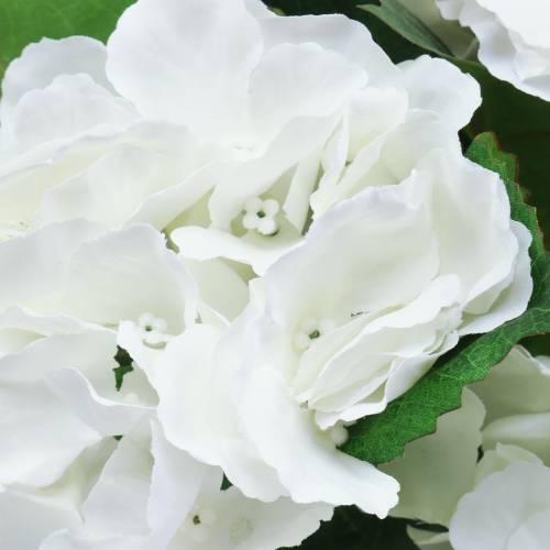 Hortensie im Blumentopf Künstlich Weiß 35cm