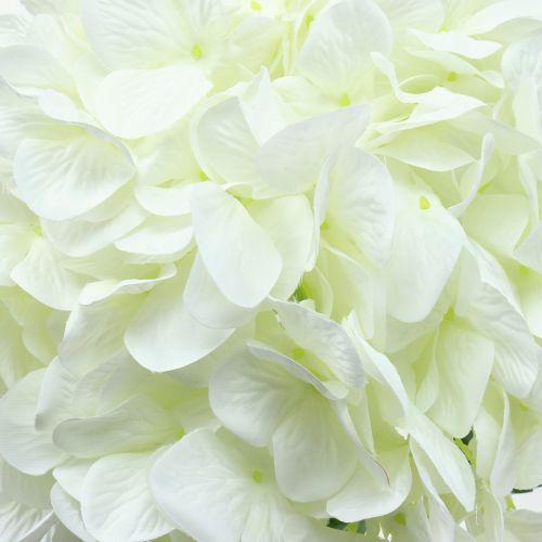 Hortensie groß künstlich Weiß L110cm