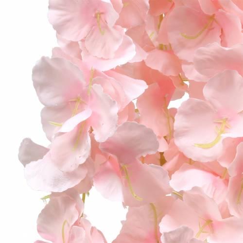 Deko-Blütengirlande künstlich Hellrosa 135cm 5-strängig