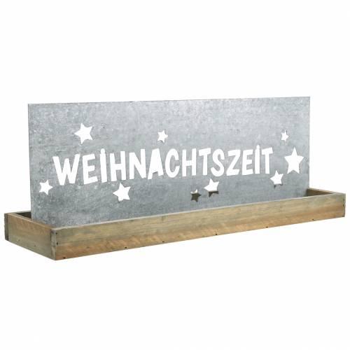 """Weihnachtsdeko Holztablett """"Weihnachtszeit"""" 43cm"""