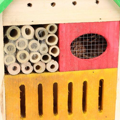 insektenhotel bunt 25 5cm x 9cm x 38 5cm preiswert online kaufen. Black Bedroom Furniture Sets. Home Design Ideas