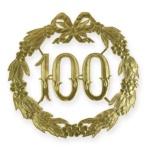 Jubiläumszahl 100 in Gold