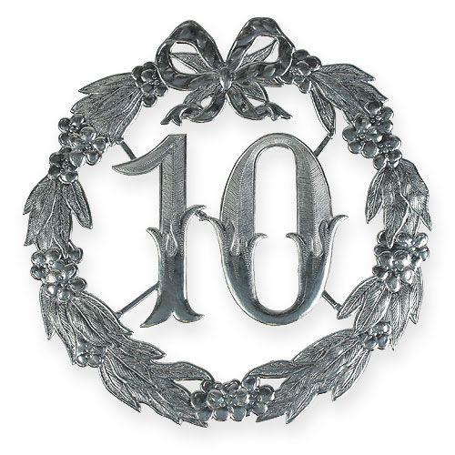 Jubiläumszahl 10 in Silber
