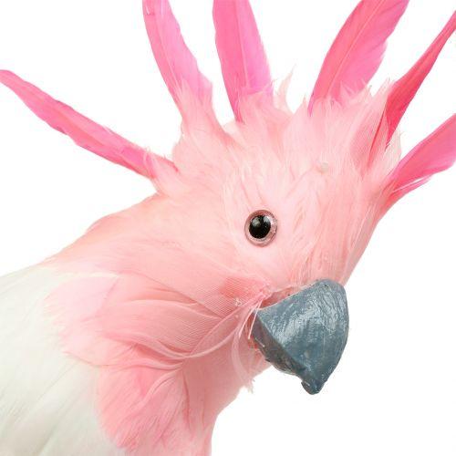Deko Kakadu Pink 32cm