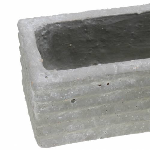 Pflanzkasten Beton Hellgrau 30x7cm H6,5cm 2St