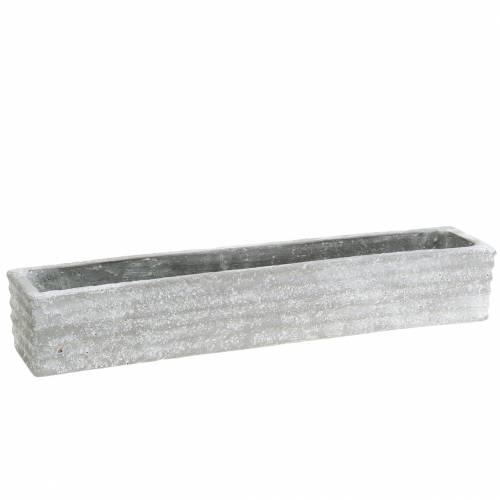 Pflanzkasten Beton Hellgrau 40x8cm H6,7cm