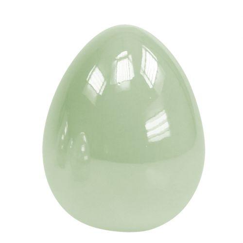 Keramik-Ei stehend Pastellgrün 8,5cm 4St