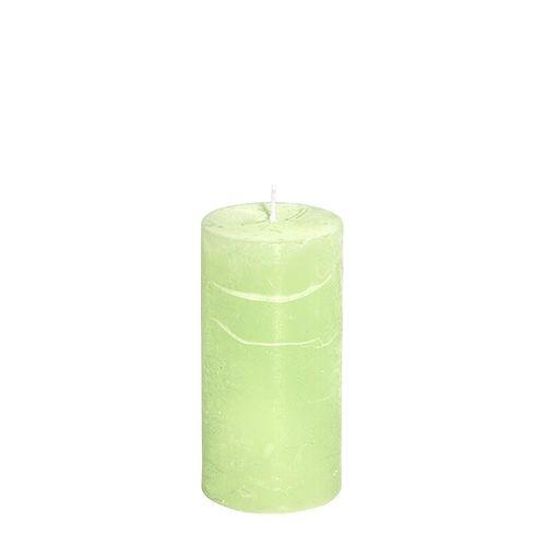 Kerze Mint 50mm x 100mm durchgefärbt 4St