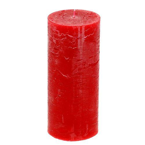 Kerze Rot 60mm x 140mm durchgefärbt 8St