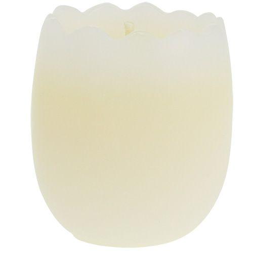 Kerze im Ei Gelb 5,5cm 3St