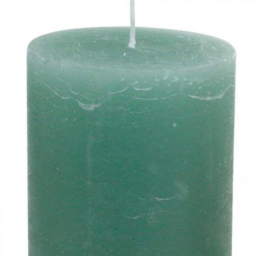 Stumpenkerzen durchgefärbt Grün 85×200mm 2St