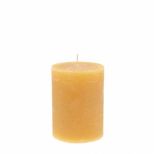Durchgefärbte Kerzen Honigfarben 60×80mm 4St