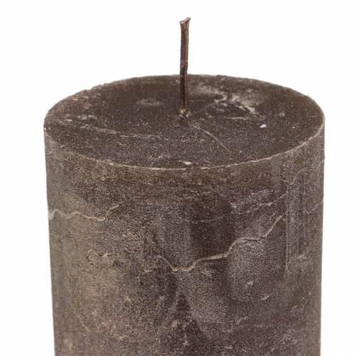 Durchgefärbte Kerzen Kupfer Metallic Verschiedene Größen