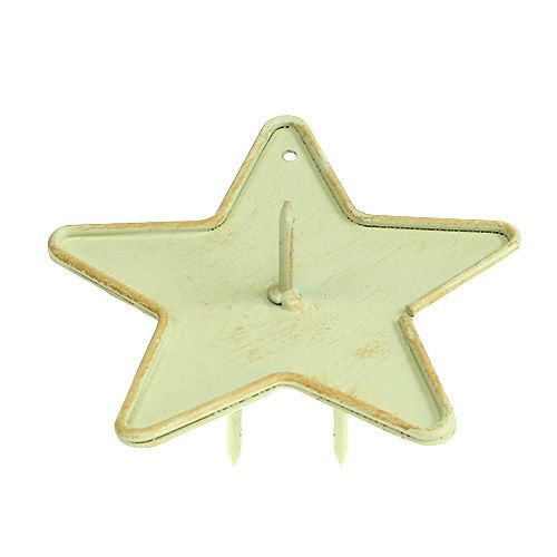 Kerzenhalter Stern zum Stecken 9cm Creme