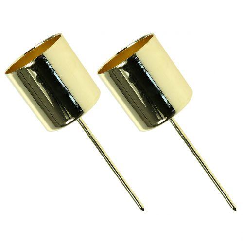 Kerzenhalter für Stabkerzen Gold Ø3,5cm H4cm 4St