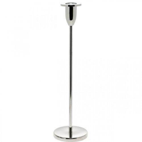 Kerzenhalter Silbern Metalldeko Leuchter für Stabkerzen H31cm