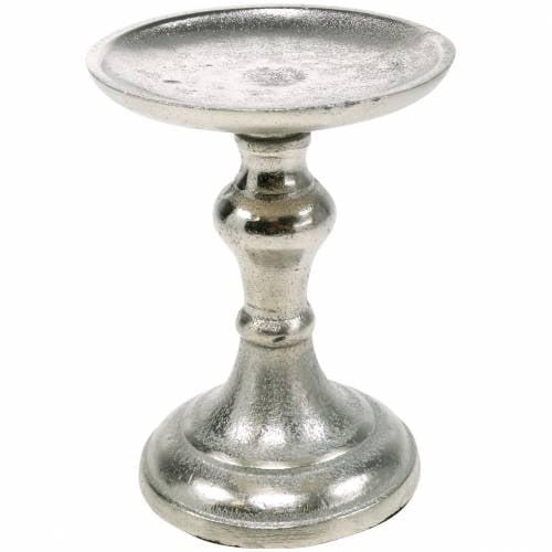 Metall-Kerzenständer für Stumpenkerze, Kerzenhalter, Kerzenleuchter Silbern
