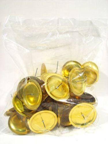 kerzenhalter mit dorn gold 6 cm 36 st preiswert online kaufen. Black Bedroom Furniture Sets. Home Design Ideas