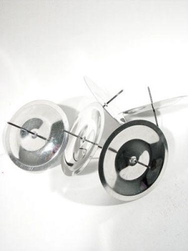 kerzenhalter mit dorn silber 5 cm 36st preiswert online kaufen. Black Bedroom Furniture Sets. Home Design Ideas