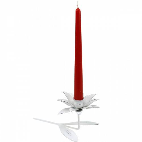 Hochzeitsdeko, Kerzenhalter Blüte, Frühling, Kerzendeko, Metall-Leuchter