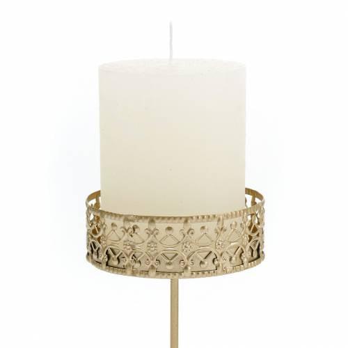 Florale Kerzenhalter zum Stecken Golden Ø7,4cm H12,5cm 4St Antik-Optik