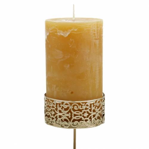 Florale Kerzenhalter zum Stecken Golden Ø8,8cm H13,7cm 4St Antik-Optik