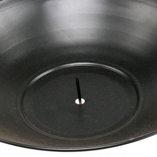 Dekoschale zum Hängen Schwarz Metallring Scandi Deko 28×54cm