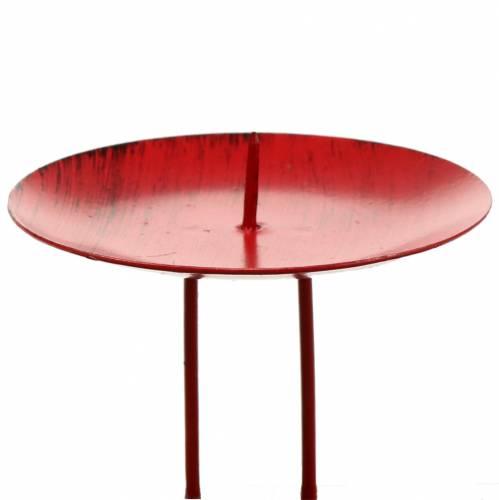 Kerzenhalter zum Stecken Rot Ø9cm 4St