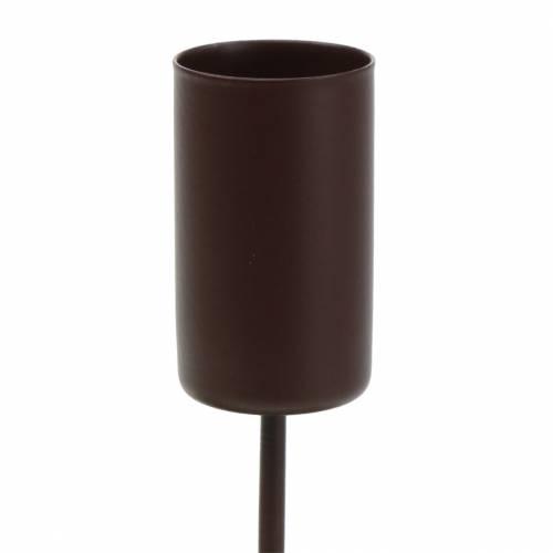 Kerzenhalter für Stabkerzen Braun Ø2,3cm H14cm 4St