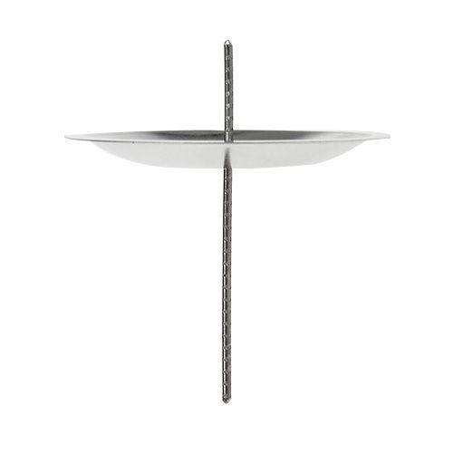 kerzenhalter mit dorn silber 5cm 36st preiswert online kaufen. Black Bedroom Furniture Sets. Home Design Ideas