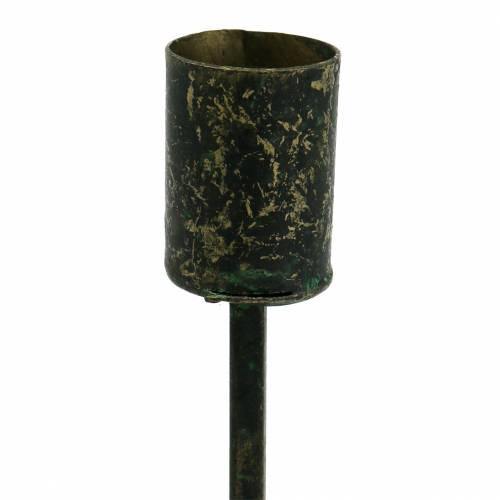 Kerzenhalter für Spitzkerzen Schwarz-Gold Ø2,5cm H14cm