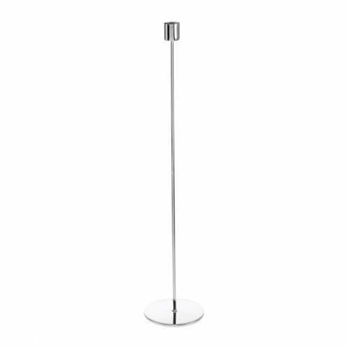 Metall-Kerzenständer-Set für Stabkerzen Silbern Ø2,2cm H31cm 2St