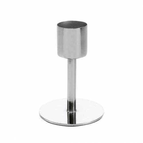 Metall-Kerzenhalter-Set für Spitzkerzen Silbern Ø2,2cm H7,3cm 4St