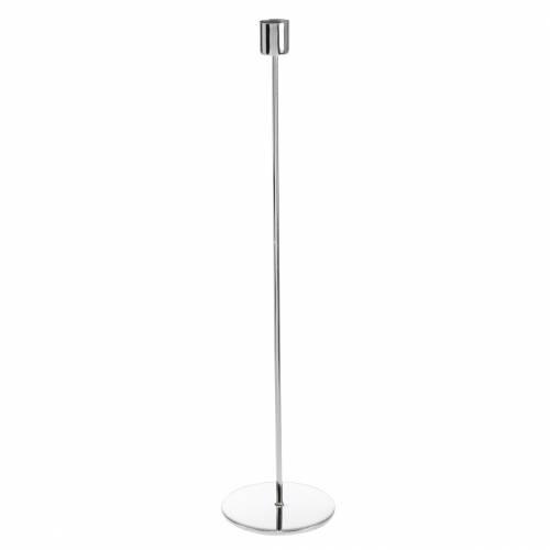 Metall-Kerzenhalter-Set für Stabkerzen Silbern Ø2,2cm H28cm 2St