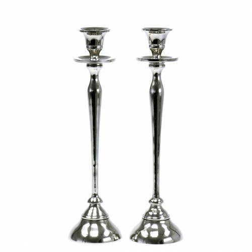 Kerzenständer Silber 2er Set H29cm