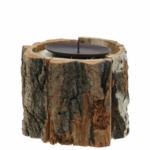 Kerzenhalter Holz Ø13cm H10cm