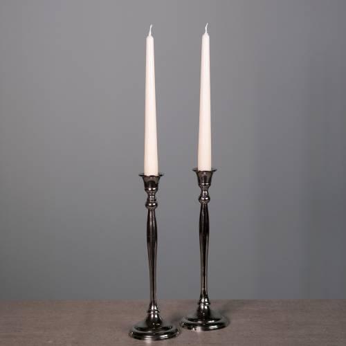 Kerzenständer Silber 2er Set H27cm