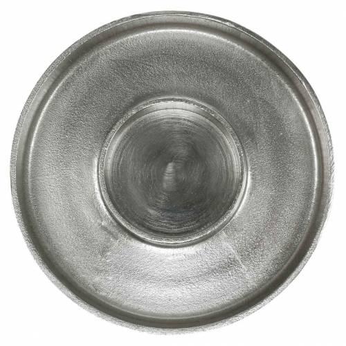 Kerzenteller Ton Silbern Ø20cm