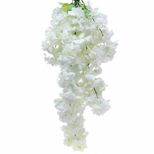 Kirschblütenzweig mit 5 Ästen Weiß künstlich 75cm