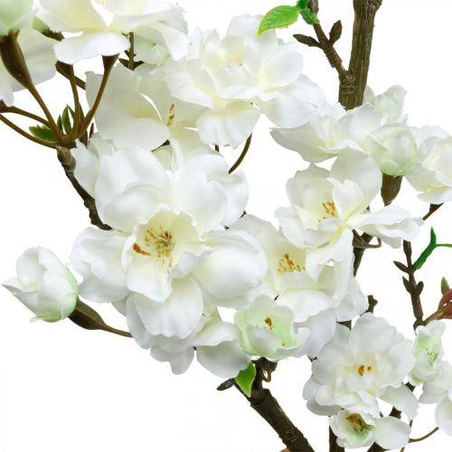 Kirschzweig Weiß künstlich Frühlingsdeko Dekozweig 110cm