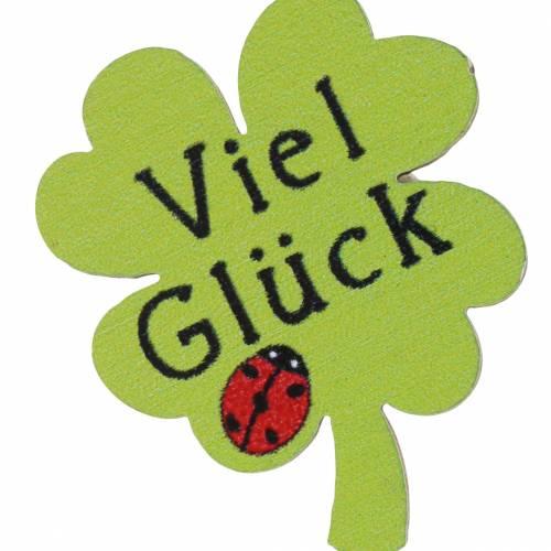 """Kleeblatt """"Viel Glück"""" Grün 3,5cm 58St"""