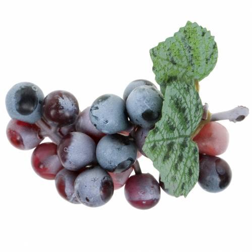 Künstliche Mini-Weintrauben Bordeaux 9cm