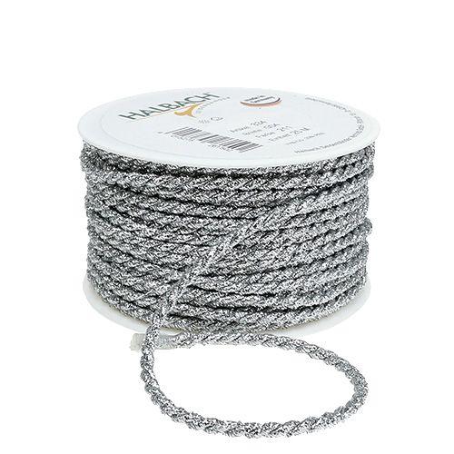 Kordelband Silber 4mm 25m